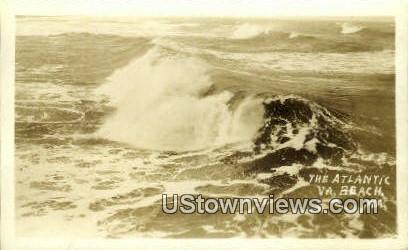 The Atlantic Ocean, Real Photo - Virginia Beach Postcards, Virginia VA Postcard
