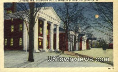 Winter Time Washington & Lee University  - Lexington, Virginia VA Postcard