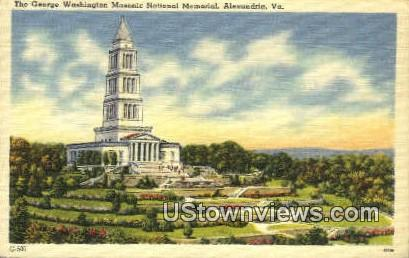 George Washington Masonic Memorial  - Alexandria, Virginia VA Postcard