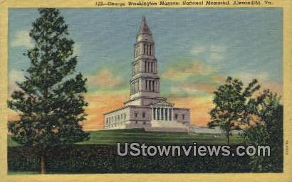 George Washington National Memoiral  - Alexandria, Virginia VA Postcard