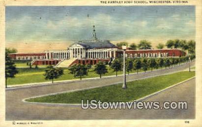 The Handley School  - Winchester, Virginia VA Postcard