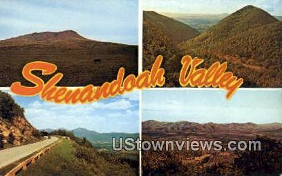 Shenandoah Valley, Virginia, VA, Postcard