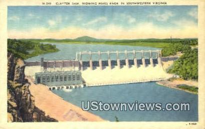Claytor Dam  - Pulaski County, Virginia VA Postcard
