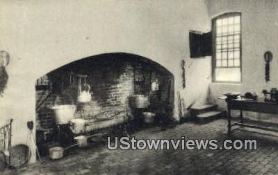 Kitchen Fireplace At Stanford Hall  - Westmoreland County, Virginia VA Postcard