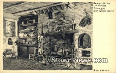 Summer Kitchen Lee Mansion  - Arlington, Virginia VA Postcard