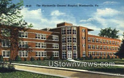 Martinsville General Hospital  - Virginia VA Postcard