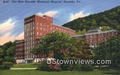 New Roanoke Hotel Hospital  - Virginia VA Postcard