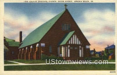 Galilee Episcopal Church  - Virginia Beach Postcards, Virginia VA Postcard
