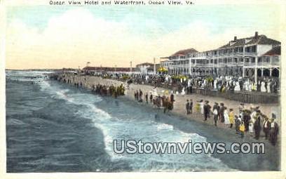 Hotel And Waterfront  - Ocean View, Virginia VA Postcard