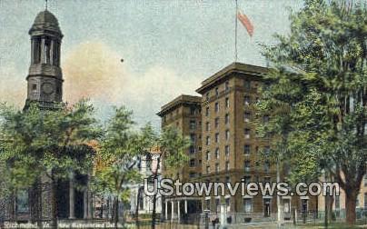 Hotel Richmond, St Pauls Church  - Virginia VA Postcard