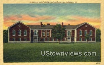 Dining Hall State Teachers College  - Radford, Virginia VA Postcard