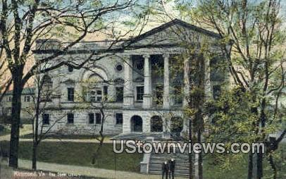 The State Library  - Richmond, Virginia VA Postcard