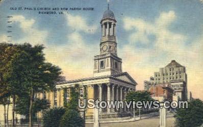 Old St Pauls Church - Richmond, Virginia VA Postcard