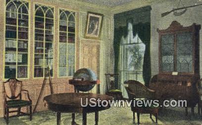 Washingtons Library  - Mount Vernon, Virginia VA Postcard