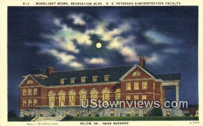 Recreation Building  - Salem, Virginia VA Postcard