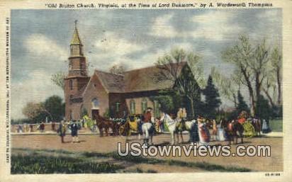 old Bruton Parish Church  - Williamsburg, Virginia VA Postcard