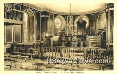 Captiol General Court  - Williamsburg, Virginia VA Postcard