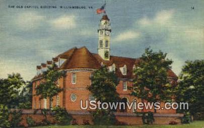 The old Captiol  - Williamsburg, Virginia VA Postcard