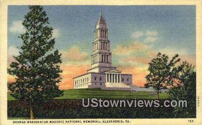 George Washington Memoiral  - Alexandria, Virginia VA Postcard