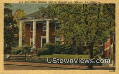Winchester Memorial Hospital  - Virginia VA Postcard