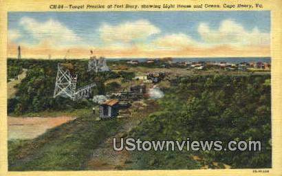 Target Practice At Fort Story  - Cape Henry, Virginia VA Postcard