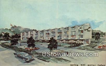 Spring hill Motor Lodge  - Arlington, Virginia VA Postcard