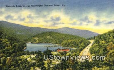 Sherando Lake  - George Washington National Forest, Virginia VA Postcard