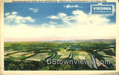Shenandoah River  - Woodstock, Virginia VA Postcard