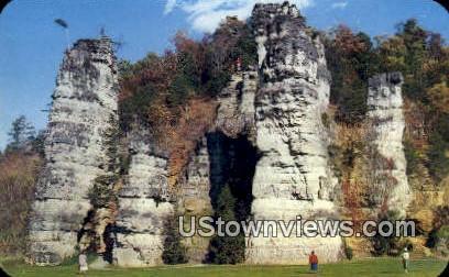 Natural Chimneys  - Mount Solon, Virginia VA Postcard