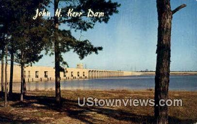 US Army Corps Of Engineers  - John H Kerr Dam and Reservoir, Virginia VA Postcard