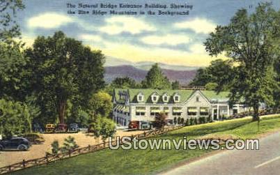 Entrance - Natural Bridge, Virginia VA Postcard
