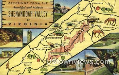 Greetings from - Shenandoah Valley, Virginia VA Postcard