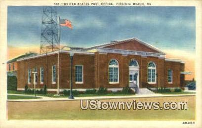 United States Post Office  - Virginia Beach Postcards, Virginia VA Postcard