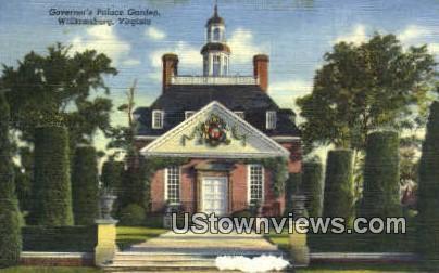Governors Palace Garden  - Williamsburg, Virginia VA Postcard