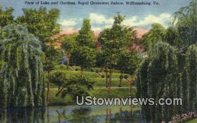 Royal Governors Palace  - Williamsburg, Virginia VA Postcard