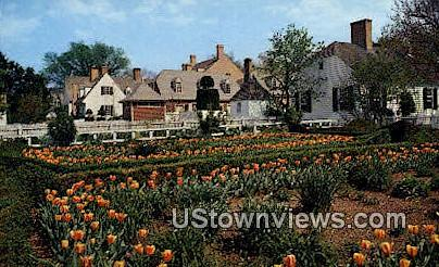 Prentiss House Garden  - Williamsburg, Virginia VA Postcard