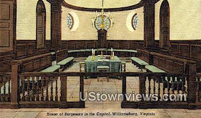 House Of Burgess In The Capitol  - Williamsburg, Virginia VA Postcard