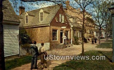 Margarett Hunter Shop Golden Ball  - Williamsburg, Virginia VA Postcard