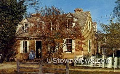 Brush Everard House  - Williamsburg, Virginia VA Postcard