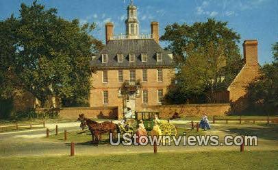 Governors Palace  - Williamsburg, Virginia VA Postcard
