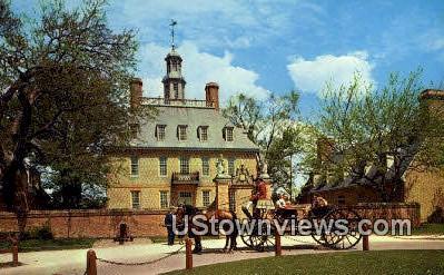 The Governors Palace  - Williamsburg, Virginia VA Postcard