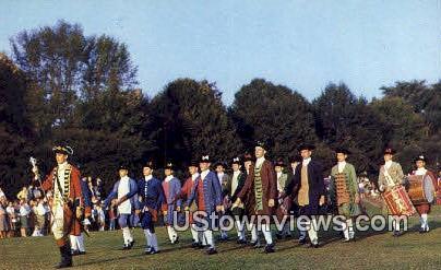 Colonial Fife And Drum Corps - Williamsburg, Virginia VA Postcard