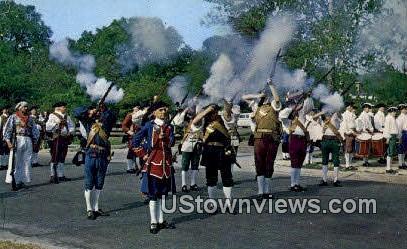 Colonial Militia  - Williamsburg, Virginia VA Postcard