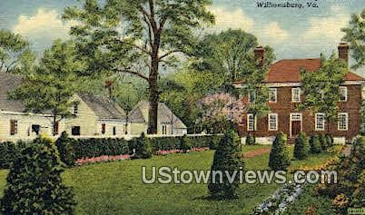 Garden View Of George Wythe House - Williamsburg, Virginia VA Postcard