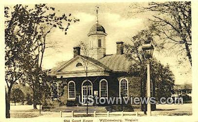 Old Court House  - Williamsburg, Virginia VA Postcard