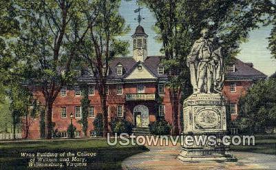 Wren Bld.College of William & Mary  - Williamsburg, Virginia VA Postcard