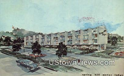 Spring Hill Motor Lodge  - Baileys Crossroads, Virginia VA Postcard