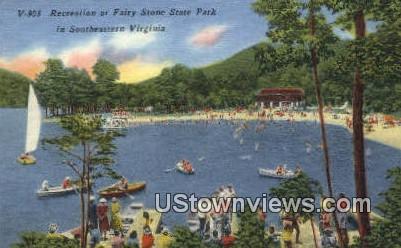 Recreation At Fairy Stone State Park  - Clifton Forge, Virginia VA Postcard