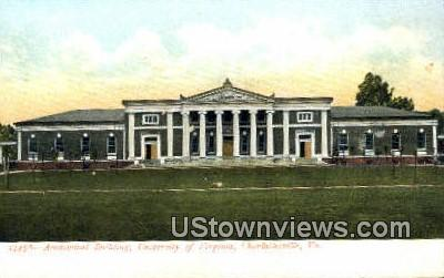 Academical Building Univ. Of Virginia  - Charlottesville Postcard