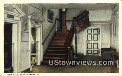 Main Hall  - Mount Vernon, Virginia VA Postcard